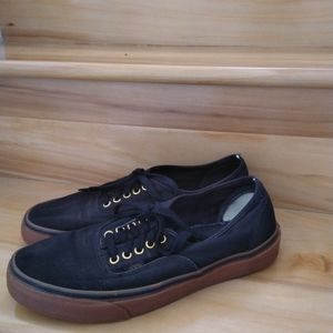 Vans black sneakers size 10.5